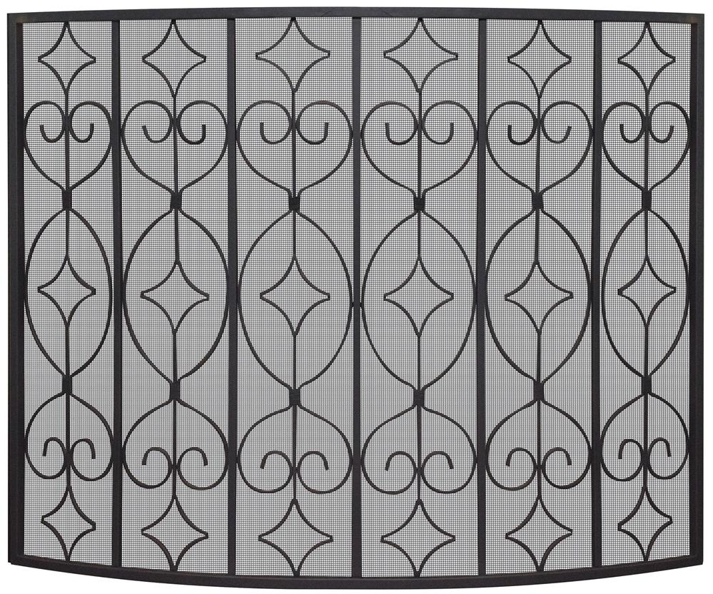 Sensational Uniflame Black Curved Ornate Fireplace Screen Download Free Architecture Designs Photstoregrimeyleaguecom